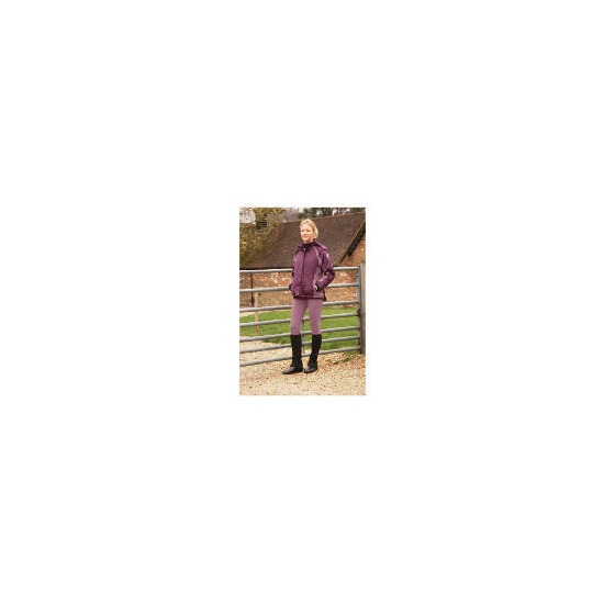 Ladies Lightweight Waterproof Quilted Purple riding jacket size 10