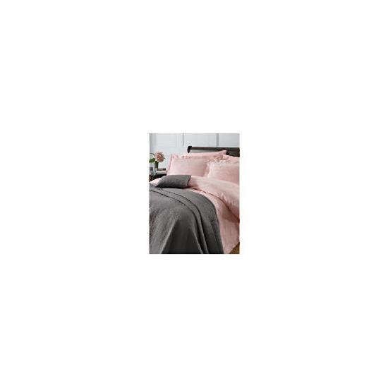 Finest Revolve Jacquard Super King Duvet Set, Pink