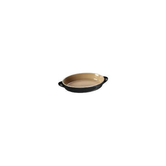 Le Creuset Curve stoneware 25cm oval baking dish colour Jet Black
