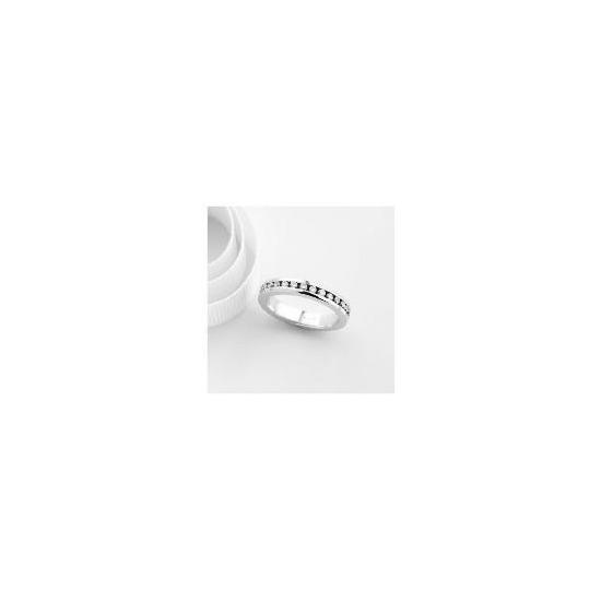 18ct White Gold 1 carat Diamond Full Eternity Ring, L