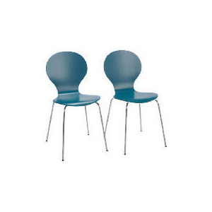 Photo of Pair Of Bistro Stacking Chairs, Teal Furniture