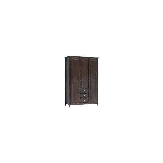 Fairhaven 3 door 3 drawer Wardrobe, Chocolate