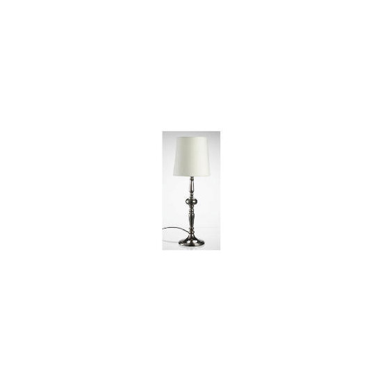 Tesco Metallic Finish Spindle Table Lamp, Silver