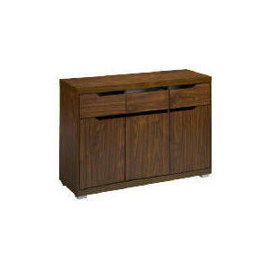 Photo of Seattle 3 Door 3 Drawer Sideboard, Walnut Effect Furniture