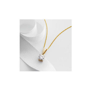 Photo of 9CT Gold 1/2 Carat Diamond Pendant Jewellery Woman
