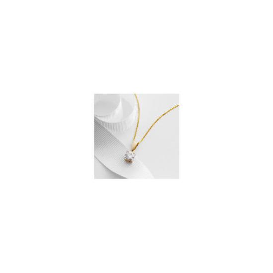 9ct Gold 1/2 Carat Diamond Pendant