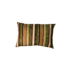 Photo of Tesco Striped Stab Stitch Cushion , Green Cushions and Throw