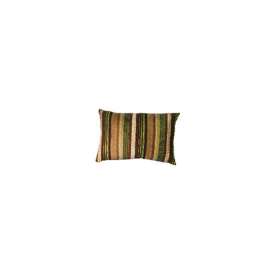 Tesco Striped Stab Stitch Cushion , Green