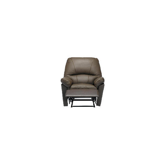 Boston Leather Recliner Chair, Chocolate