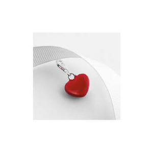 Photo of Sterling Silver Red Enamel Heart Charm Jewellery Woman