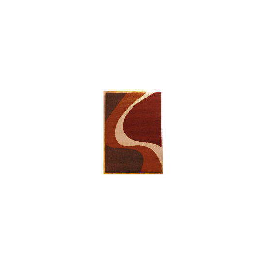 Tesco Single Wave Rug 80x150cm Cinnamon