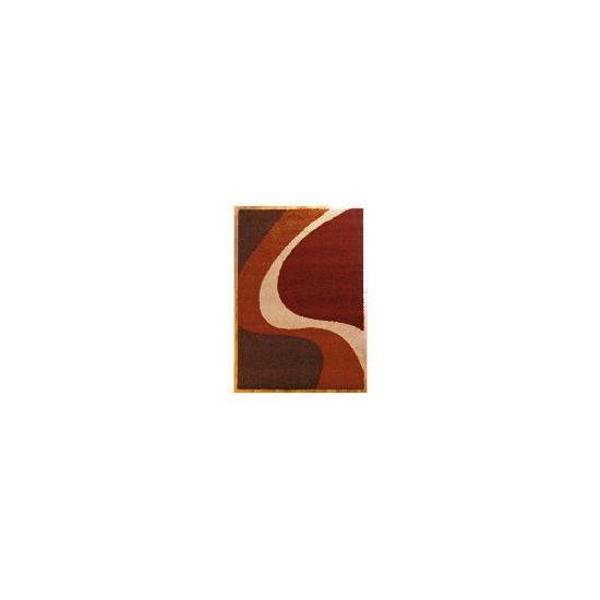 Tesco Single Wave Rug 80x150cm Cinnamon
