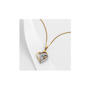 Photo of 9CT Gold Cubic Zirconia Heart Pendant Jewellery Woman