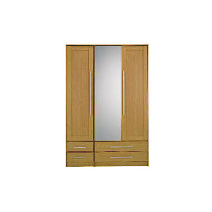Photo of Brisbane 3 Door 4 Drawer Wardrobe, Light Oak Furniture