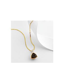 9ct gold smoky quartz and diamond pendant Reviews