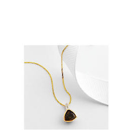 9ct gold smoky quartz and diamond pendant Reviews