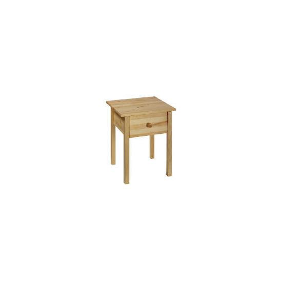 Pine 1 drawer Bedside table