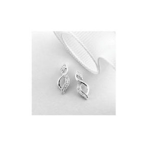 Photo of 9CT White Gold Diamond Earrings Jewellery Woman