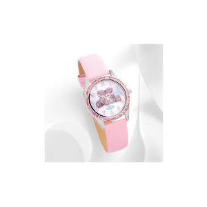 Photo of Me To Pink Strap Stone Set Watch Jewellery Woman