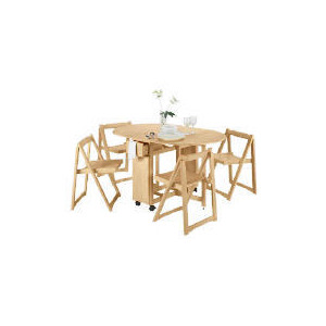 Photo of Manila Butterfly Table & 4 Chairs, Natural Furniture
