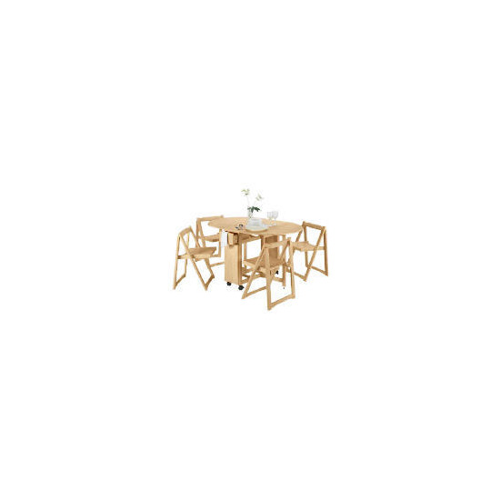 Manila Butterfly Table & 4 Chairs, Natural