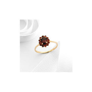 Photo of 9CT Gold Garnet Ring Q Jewellery Woman