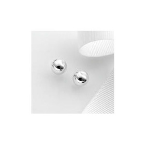 Photo of Sterling Silver 8MM Ball Studs Jewellery Woman