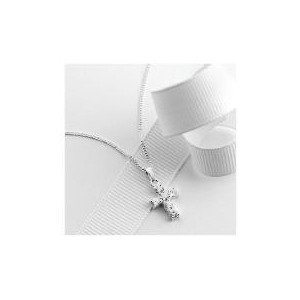 Photo of Sterling Silver Cubic Zirconia Cross Jewellery Woman