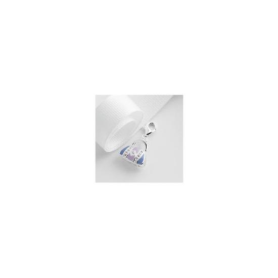Sterling Silver Enamel and Crystal Handbag Charm