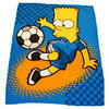 Photo of Bart Simpson Soccer Bart Fleece Blanket Bed Linen