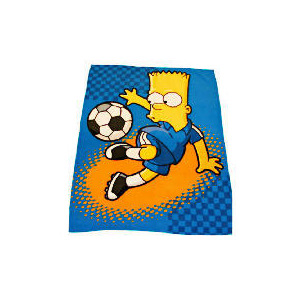 Photo of Bart Simpson Soccer Bart Fleece Blanket Bed Linen