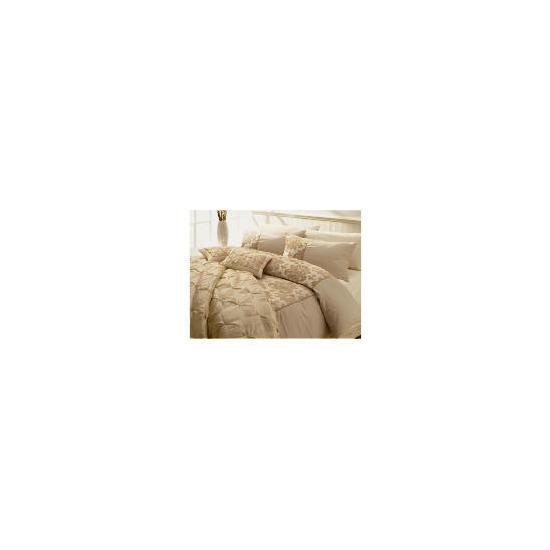 Tesco Flock Damask Single Duvet Set, Gold