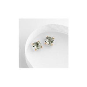 Photo of 9CT Gold Green Amethyst Earrings Jewellery Woman