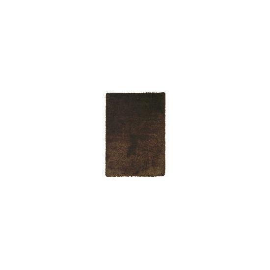 Tesco Extra Thick Shaggy Rug, Choc 160x230cm