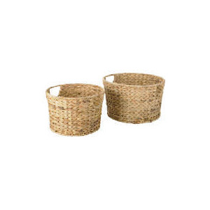 Photo of Water Hyacinth 2 Round Baskets Household Storage