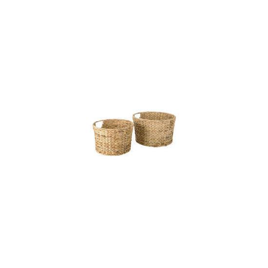 Water hyacinth 2 round baskets