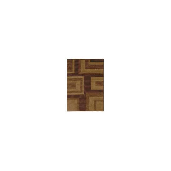Tesco Loop & Pile Squares Rug Choc 120x170cm