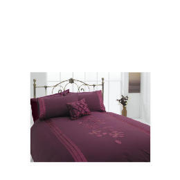 Tesco Applique Single Duvet Set, Plum Reviews