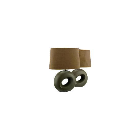 Tesco Set of 2 Calypso Table Lamp, Mocha