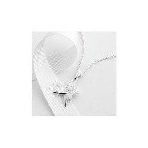 Photo of Sterling Silver Cubic Zirconia Pendant Jewellery Woman