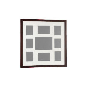 Photo of Tesco Dark Wood Frame 9 Aperture Home Miscellaneou