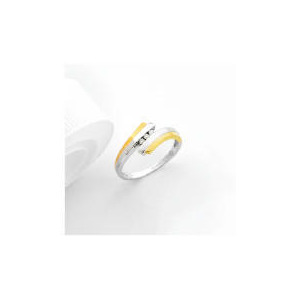 Photo of 9CT Two Tone Gold Diamond Ring Jewellery Woman