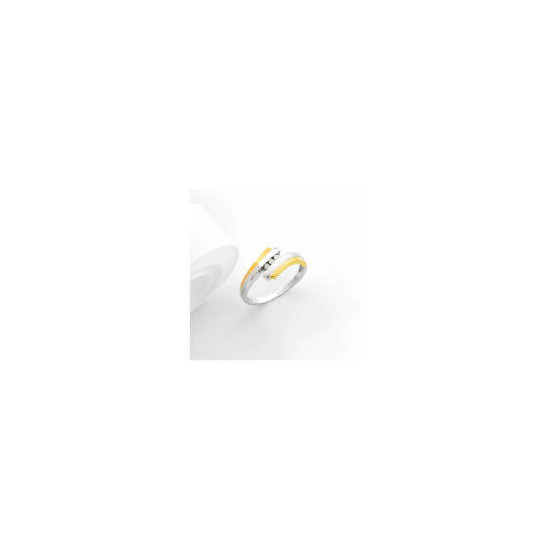 9ct two tone gold diamond ring