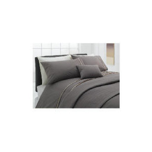 Photo of Finest Ribbon Super King Duvet Set, Cocoa Bed Linen