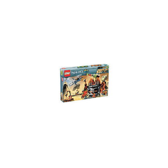 Lego Agents Exclusive: Mission 8 Volcano Base 8637 - Exclusive To Tesco