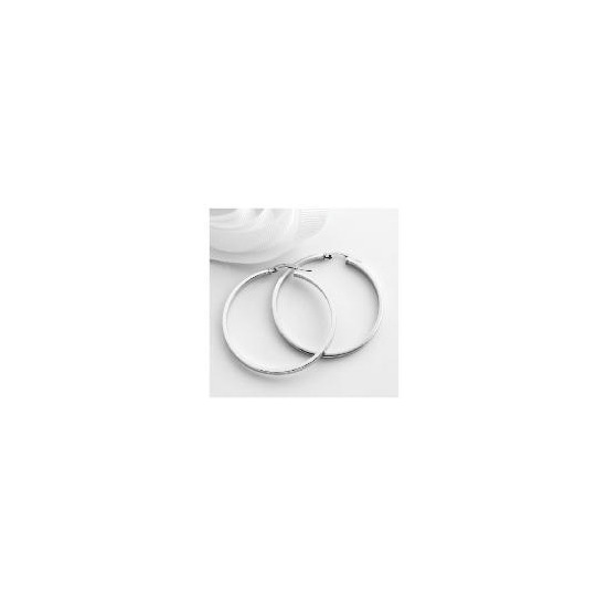 9ct white gold hoops
