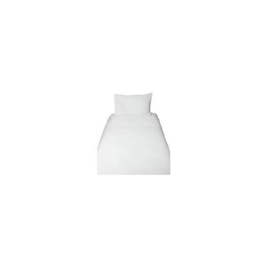 Tesco Pintuck Single Duvet Set, White