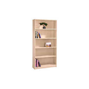 Photo of Value 5 Shelf 80CM Bookcase, Maple Effect Furniture