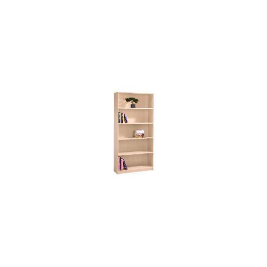 Value 5 shelf 80cm Bookcase, Maple effect