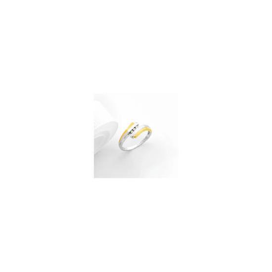 9ct two tone gold diamond ring